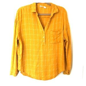 Striped Mustard Yellow Lush top